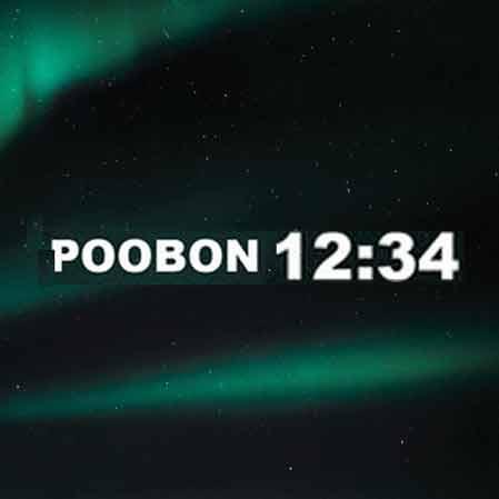 دانلود آهنگ جدید پوبون به نام 12:34